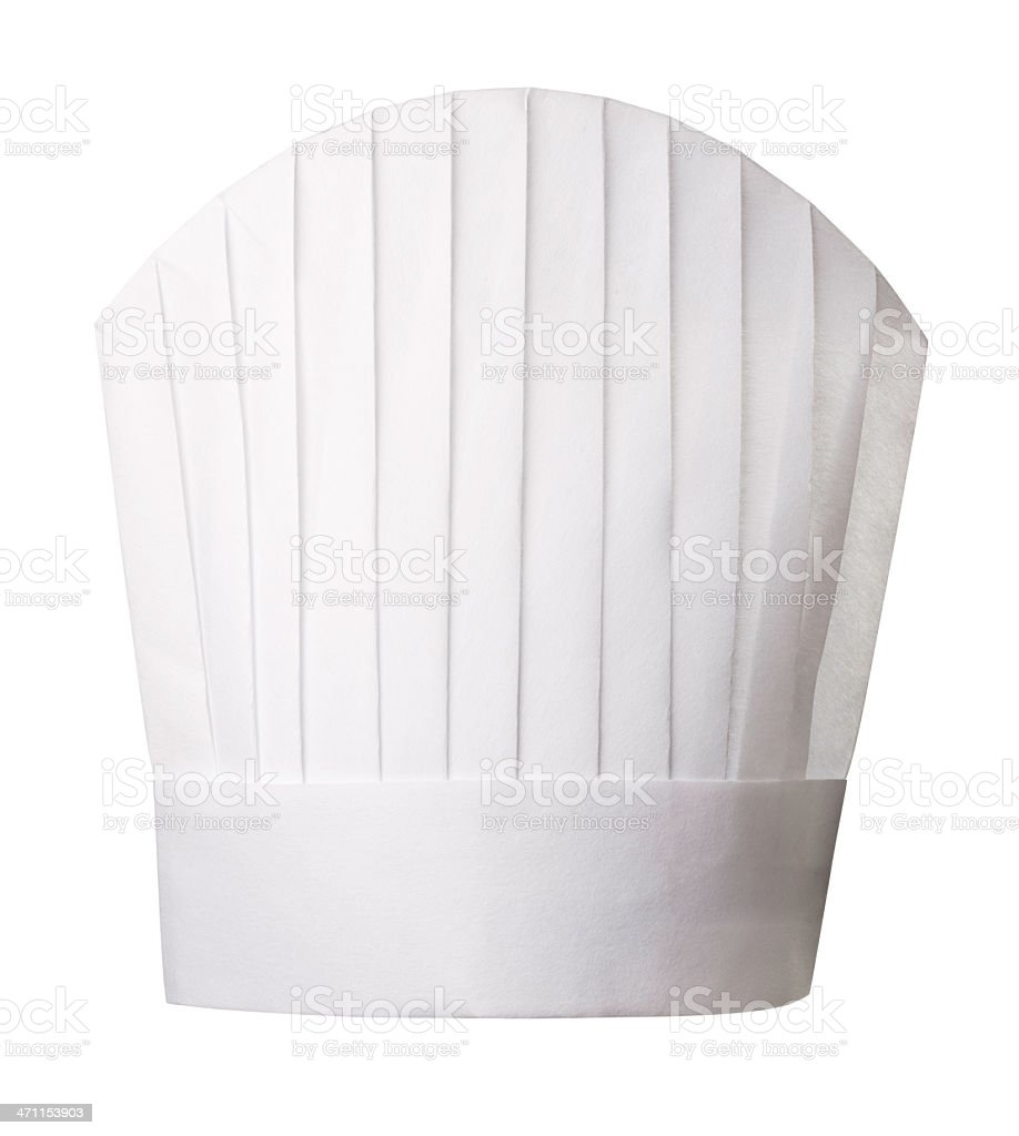 Chef's hat - side view royalty-free stock photo