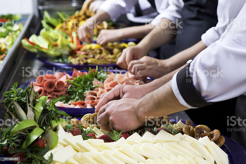 chefs preparing breakfast royalty-free stock photo