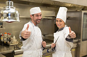 chefs thumbing up