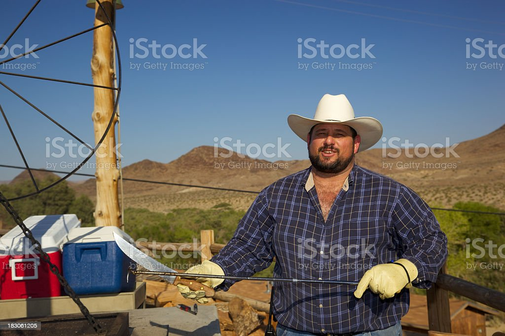 Chef's Tools of BBQ Grilling royalty-free stock photo