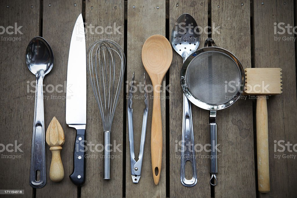 Chefs tools stock photo