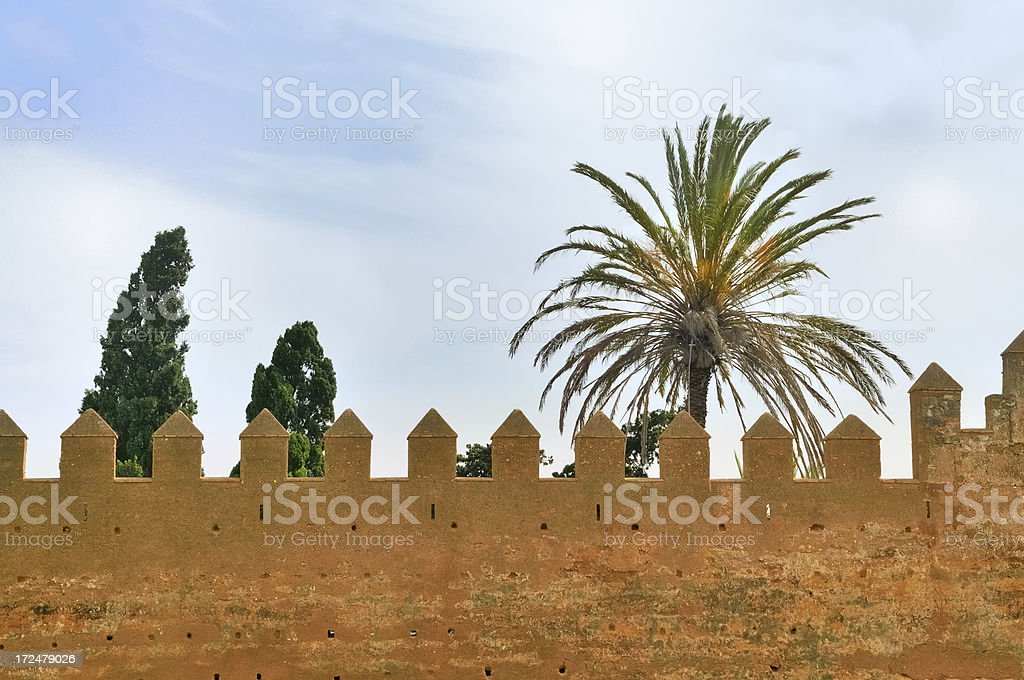 Chellah Fortification Crenelation royalty-free stock photo