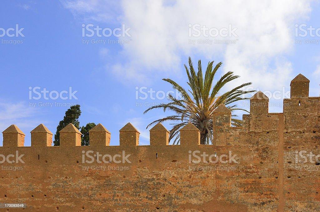 Chellah Fortification Wall stock photo