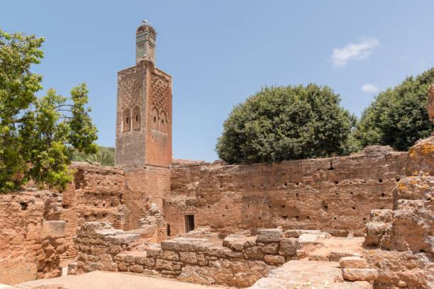 chellah moskén, rabat, marocko - rabat marocko bildbanksfoton och bilder