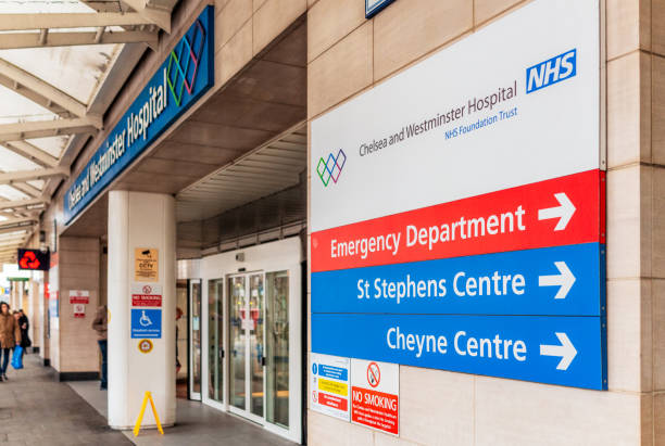 Chelsea and Westminster NHS Hospital in London stock photo