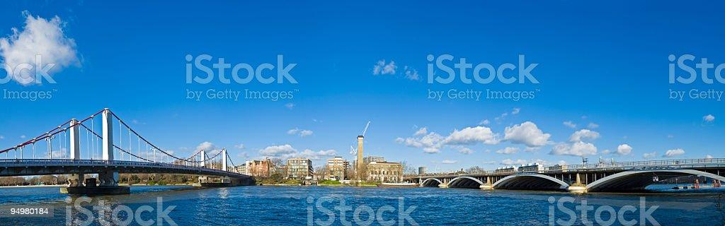 Chelsea Bridge London stock photo