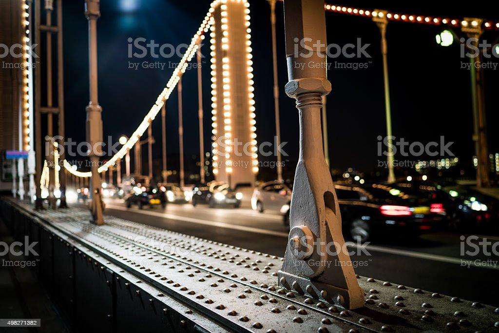 Chelsea bridge pillar stock photo