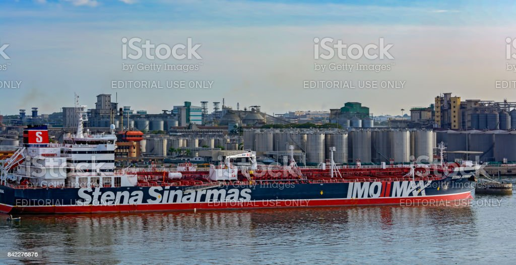 Chemical and Oil Products Tanker STENA IMPERIAL in Malaysia stock photo