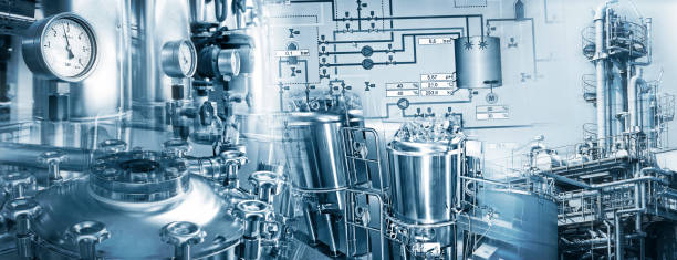 Chemieindustrie und Pharmazeutische Industrie stock photo
