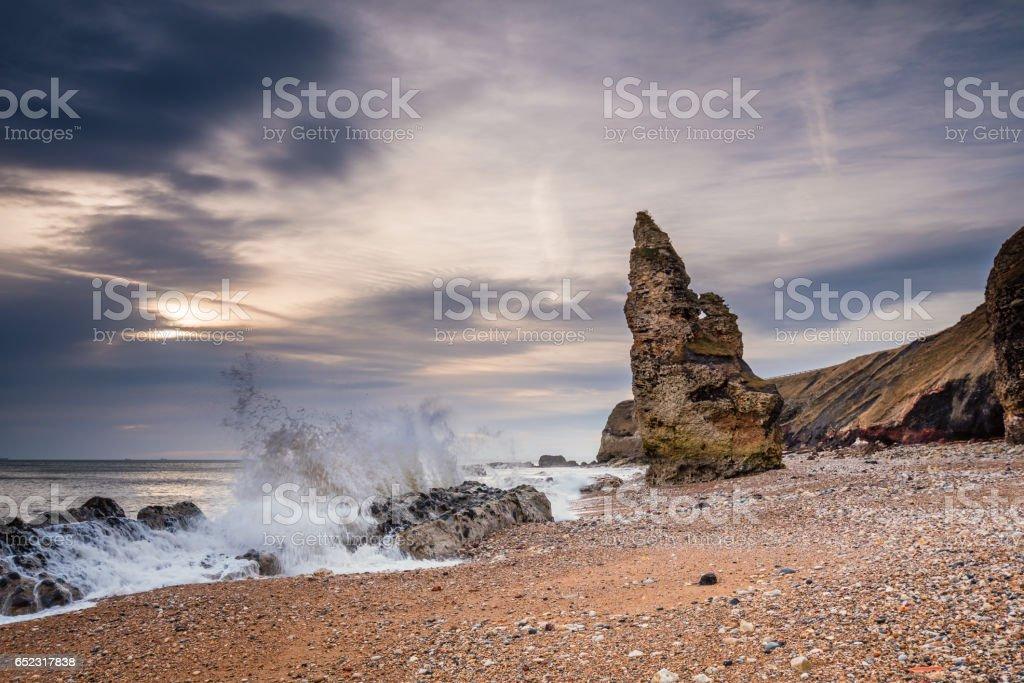 Chemical Beach Crashing Waves stock photo