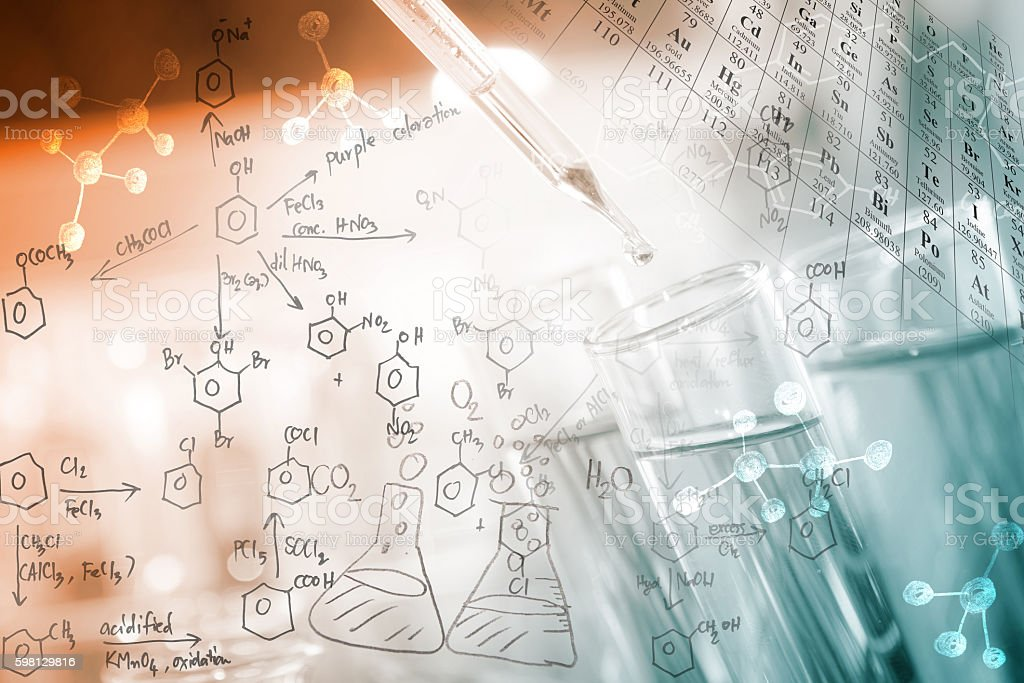 Chemical concept stock photo