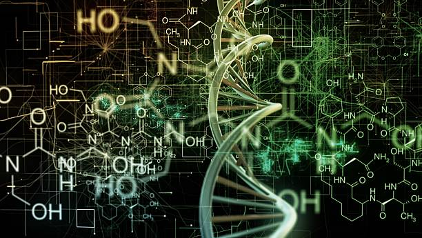 chemical dna - physics stock photos and pictures