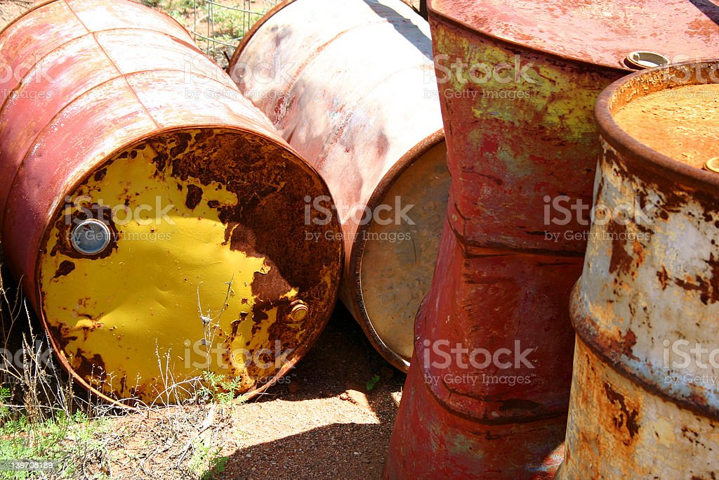 Chemical Drums royalty-free stock photo