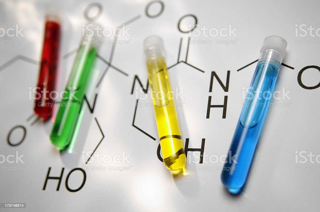 chemical equations royalty-free stock photo