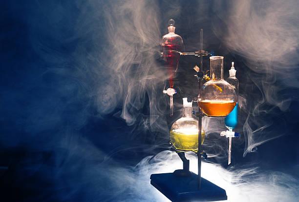 chemical Gründung und test tubes – Foto