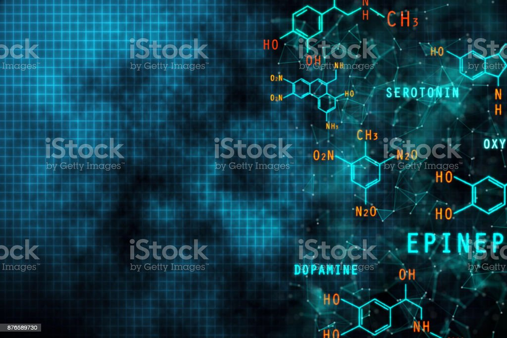 Chemical formula backdrop stock photo