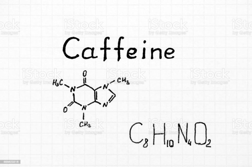 Chemical Formula Of Caffeine Stock Photo More Pictures Of Caffeine