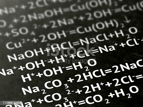 1168035793 istock photo Chemical formula on the page. 1128824563