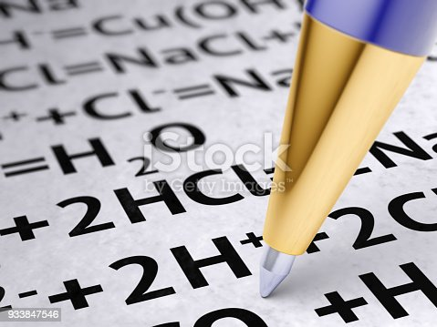 1168035793 istock photo Chemical formula on the page. 933847546