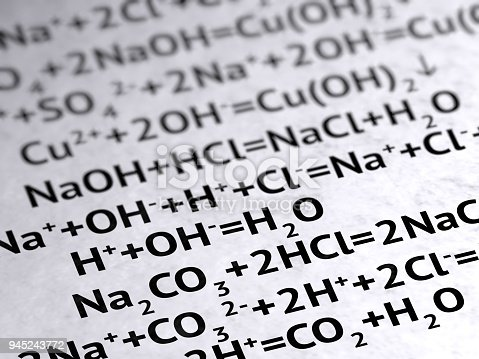 1168035793 istock photo Chemical formula on the page. 945243772