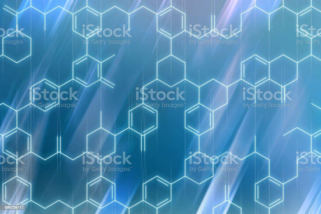 Chemical formulas background stock photo