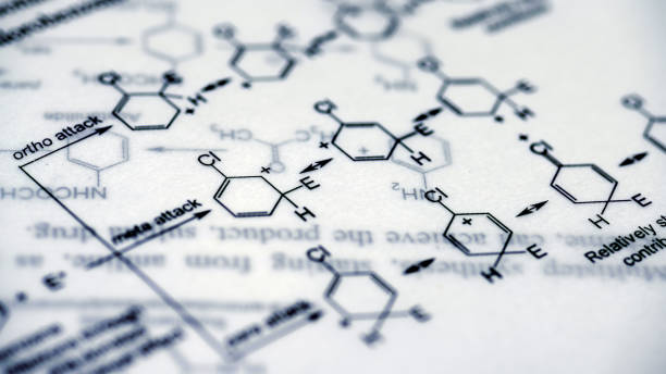 Chemical Formulas Medical Experiment - foto stock