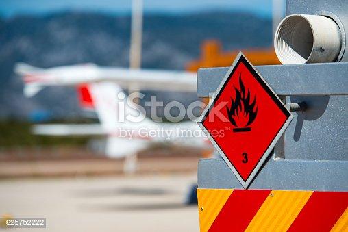 istock Chemical hazard, flammable liquids. 625752222