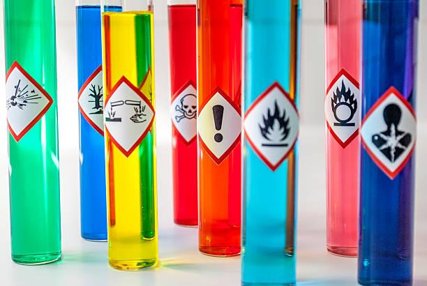 Chemische Hazard grafischen Symbolen Fitness Hazard – Foto