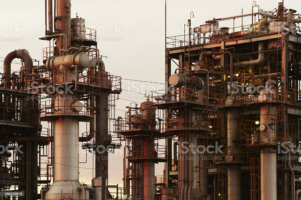 Chemical Industry Detail royalty-free stock photo