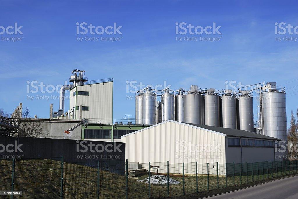 Chemical industry royaltyfri bildbanksbilder