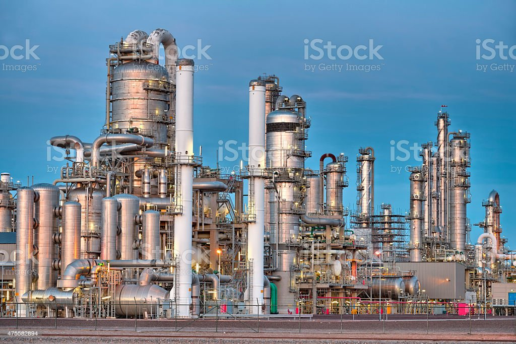 Chemical installation stock photo