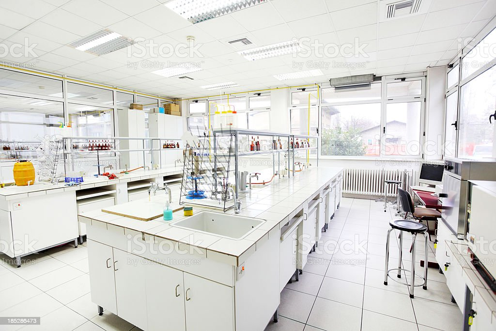 Chemical laboratory. stock photo