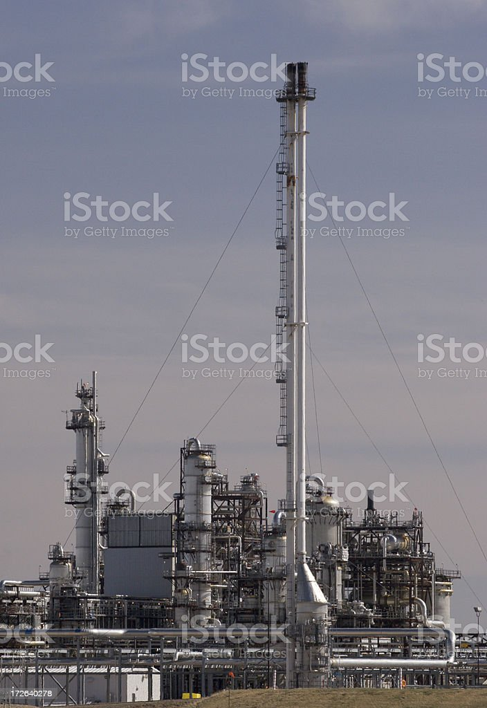 Chemical manufacturing plant royalty-free stock photo