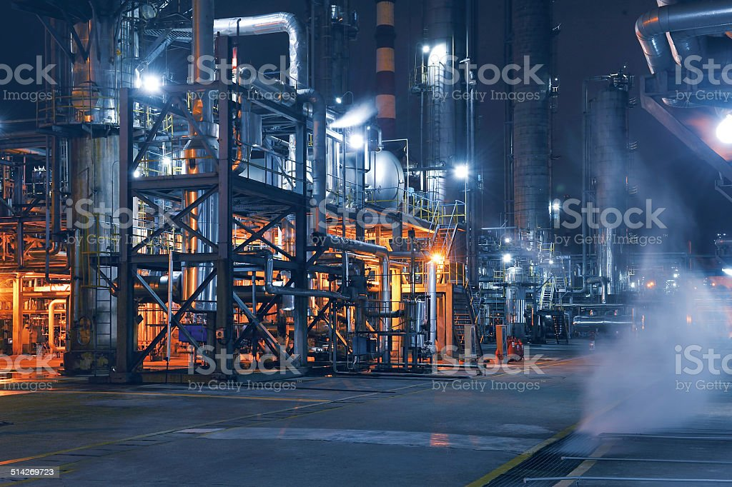 Chemical & Petrochemical Plant stock photo