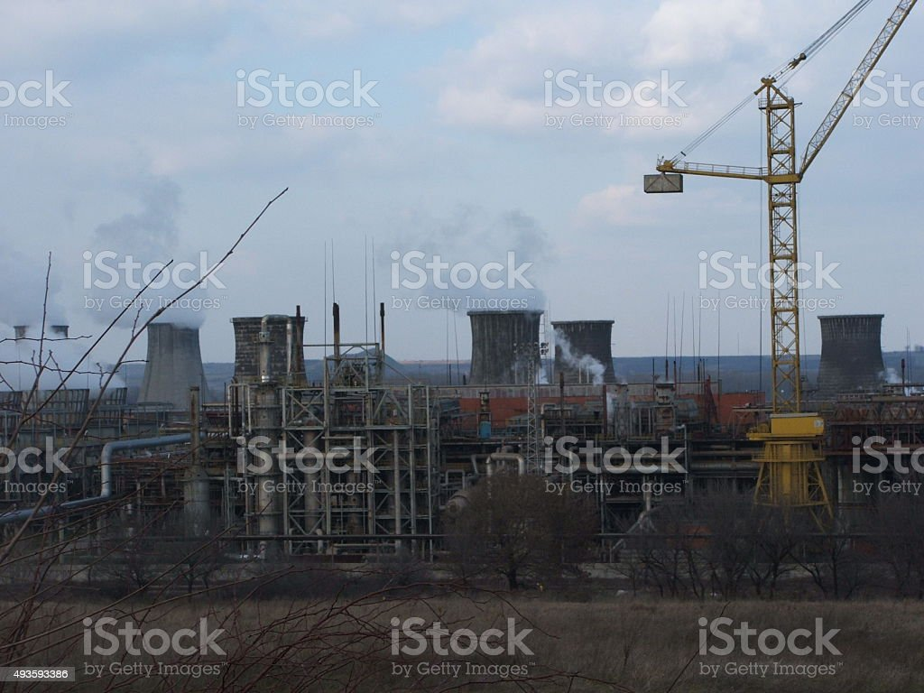 Chemical Plant 2 stock photo