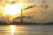 Chemical industry at sunrise