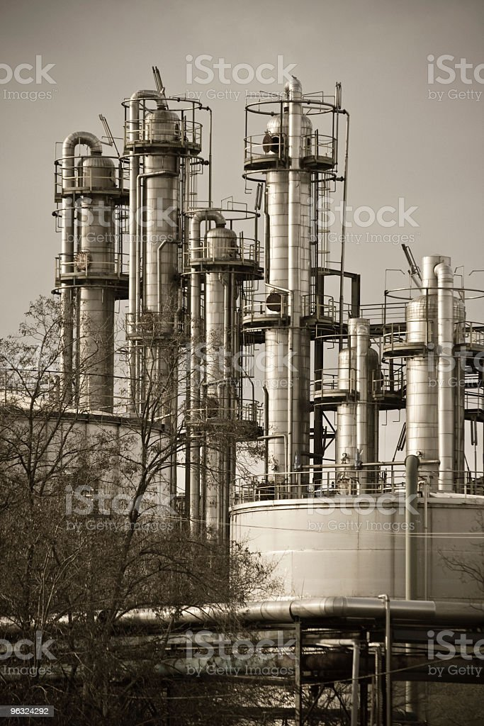 Chemical Plant Architecture royalty-free stock photo
