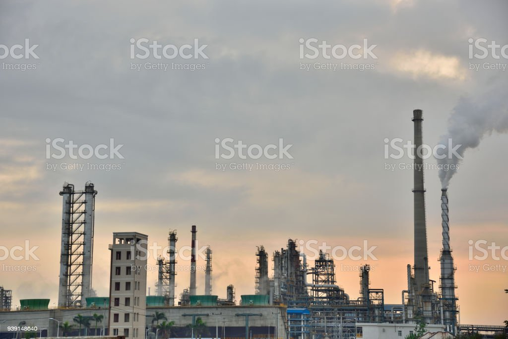 Chemical plant of refinery storage tanks
