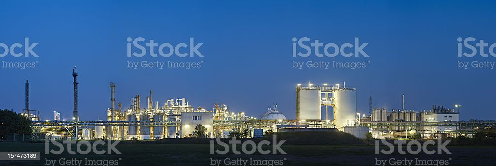 Chemical Plant Panorama royalty-free stock photo