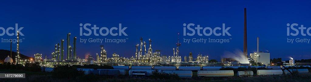 Chemical Plant Panorama XXL royalty-free stock photo
