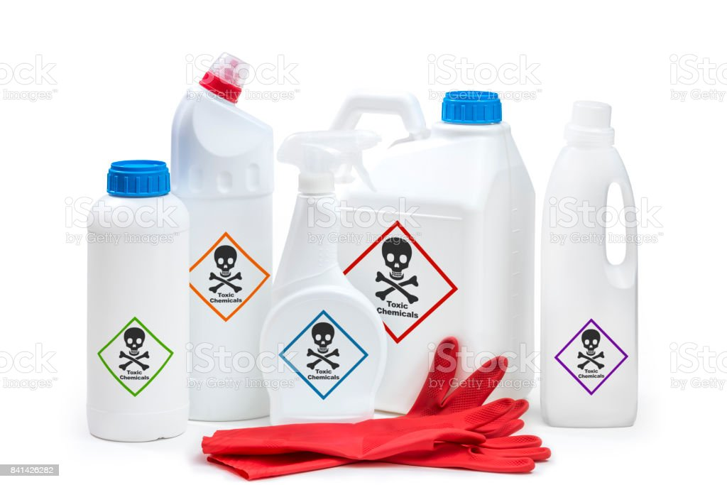 Chemical products stock photo