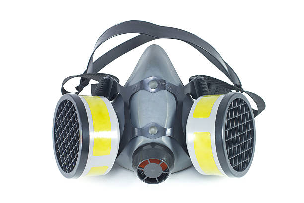 Chemical protective mask stock photo
