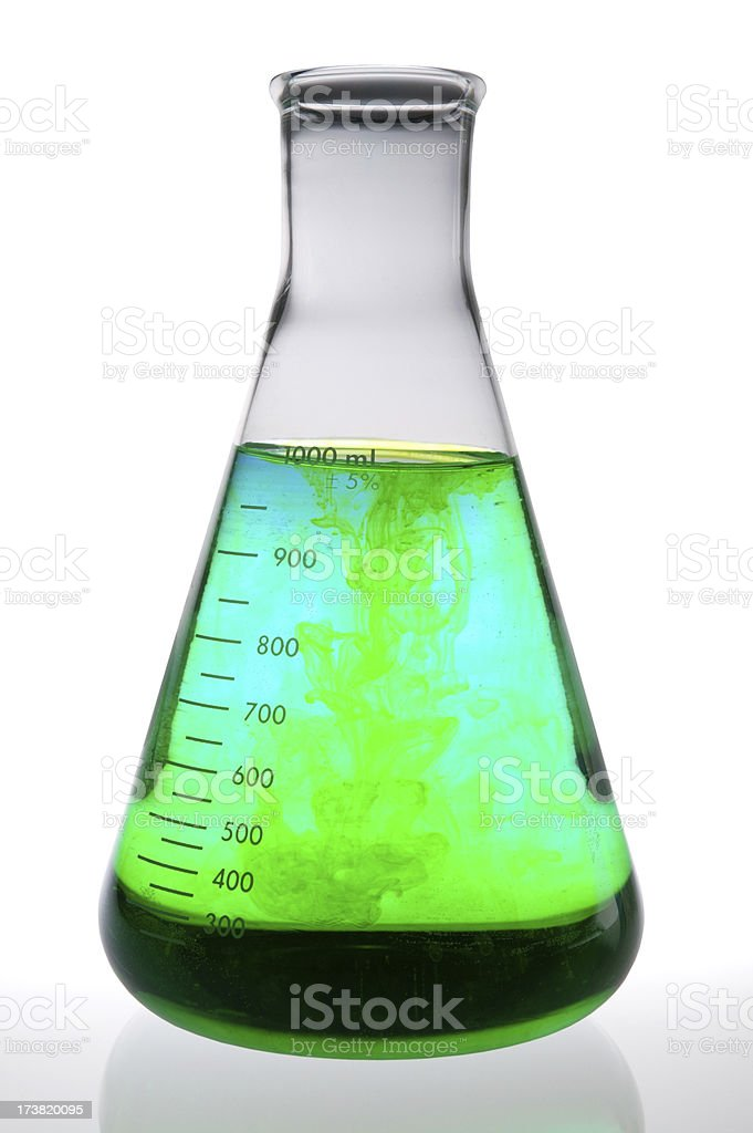 chemical reaction(with clipping path) royalty-free stock photo