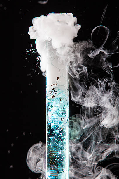 Chemical Reaction stock photo