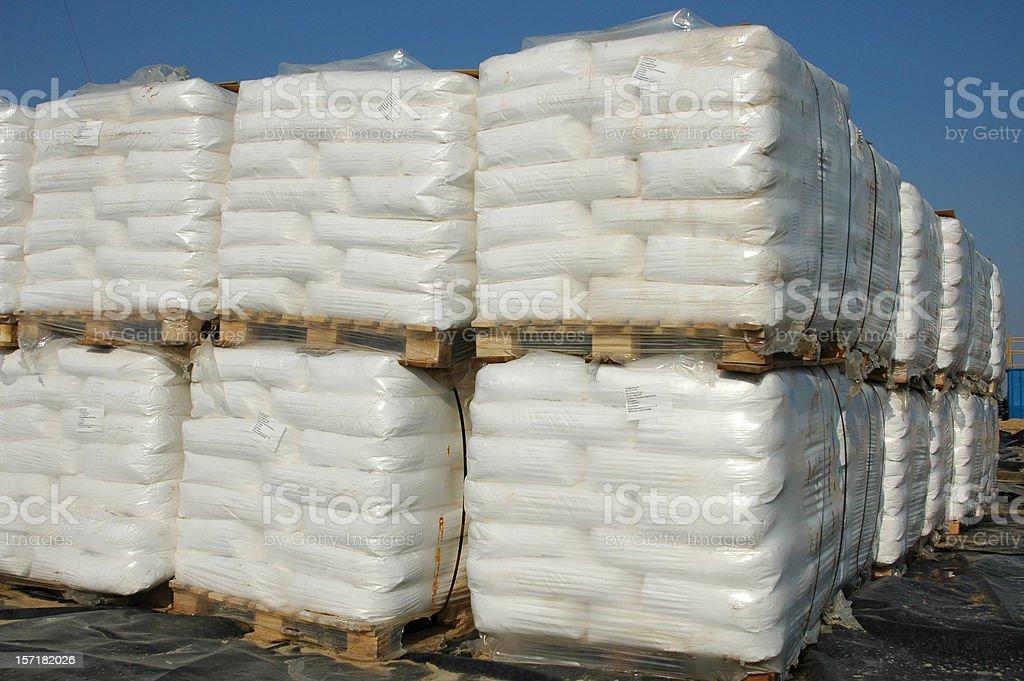 Chemical sacks royalty-free stock photo