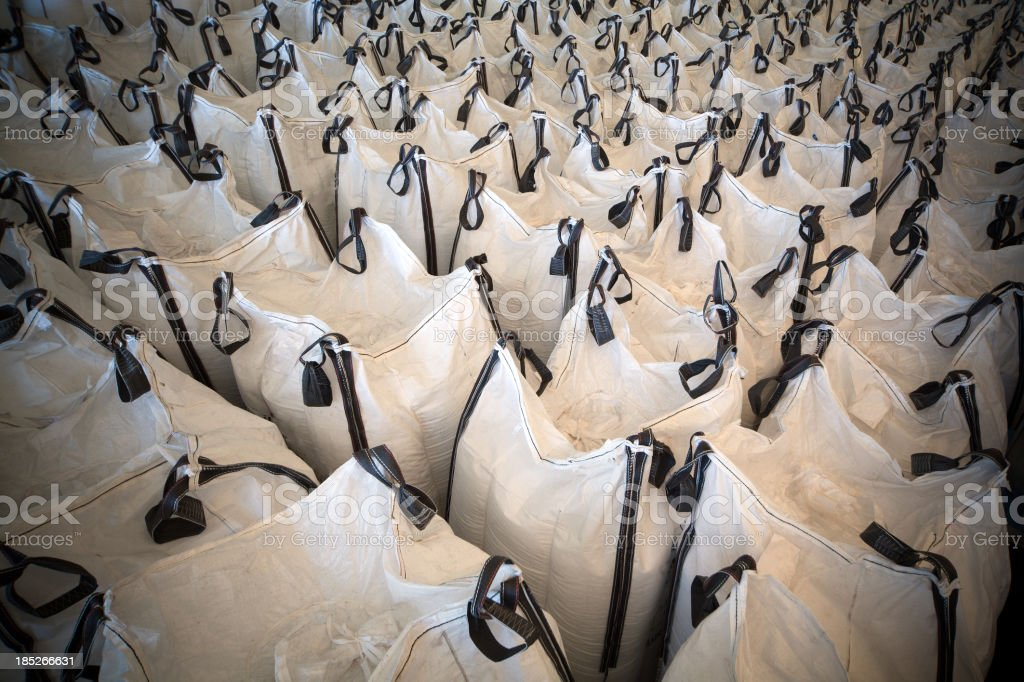 Chemical sacks stock photo