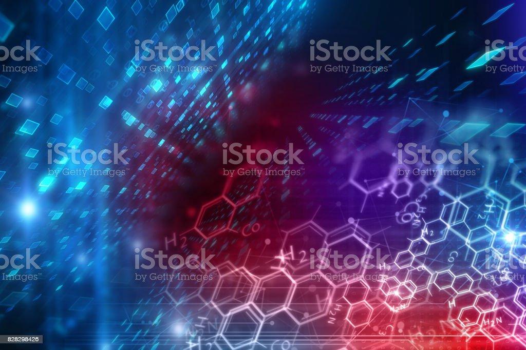 Ilustración de fondo ciencias químicas - foto de stock