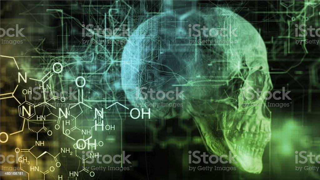 Chemical skull stock photo