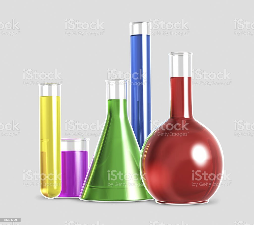 Chemical test tubes royalty-free stock photo