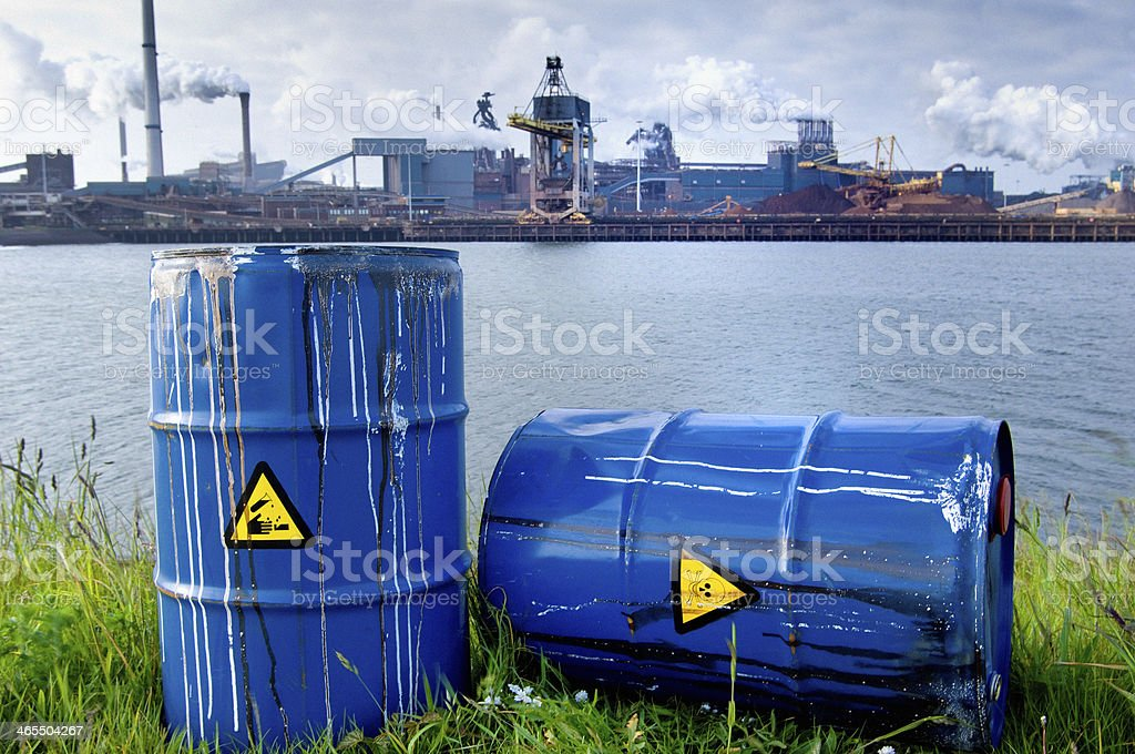Chemical waste dumping royalty-free stock photo